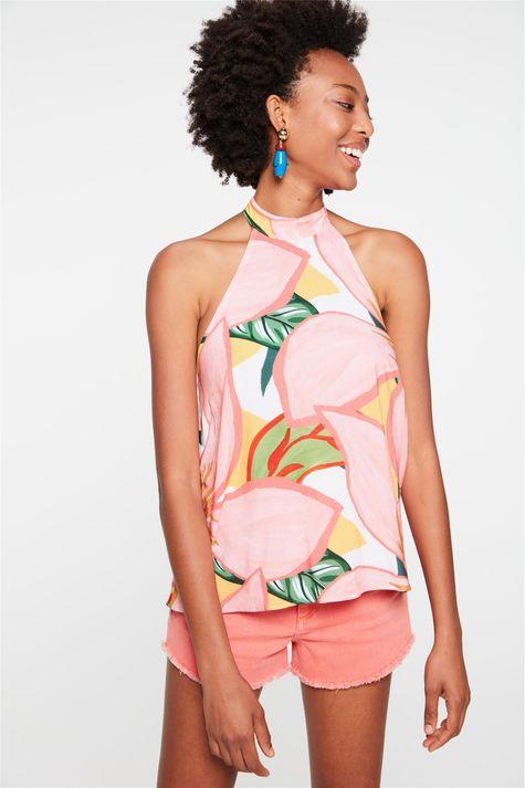 Blusa-Frente-Unica-com-Estampa-Floral-Frente--