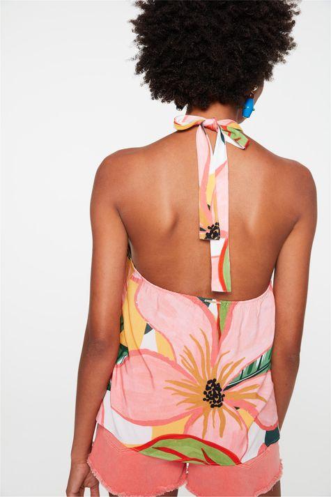 Blusa-Frente-Unica-com-Estampa-Floral-Costas--
