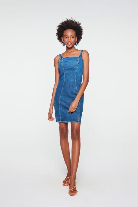 Vestido-Jeans-Medio-com-Recortes-Justo-Detalhe-2--