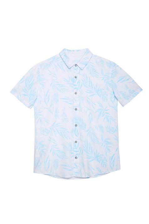 Camisa-com-Estampa-de-Folhas-Masculina-Detalhe-Still--