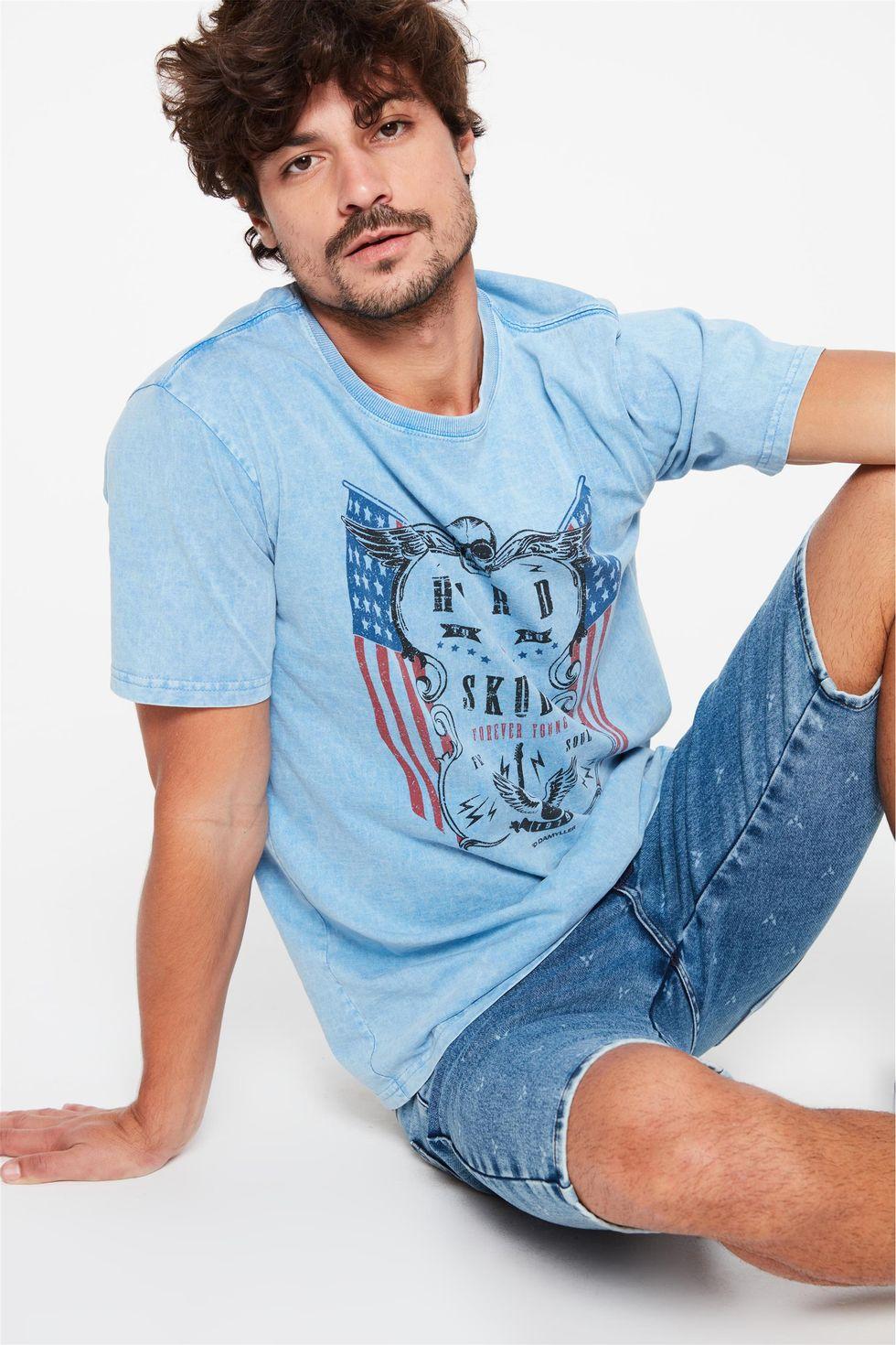 Camiseta-Estonada-com-Estampa-Hard-Skull-Frente--