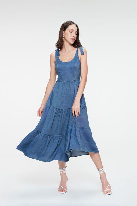 Vestido-Jeans-Midi-de-Camadas-Frente--