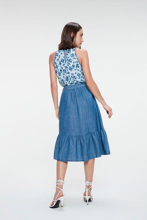Vestido-Jeans-Midi-com-Estampa-Floral-Costas--