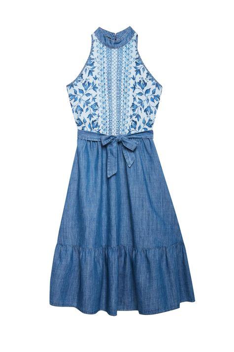 Vestido-Jeans-Midi-com-Estampa-Floral-Detalhe-Still--