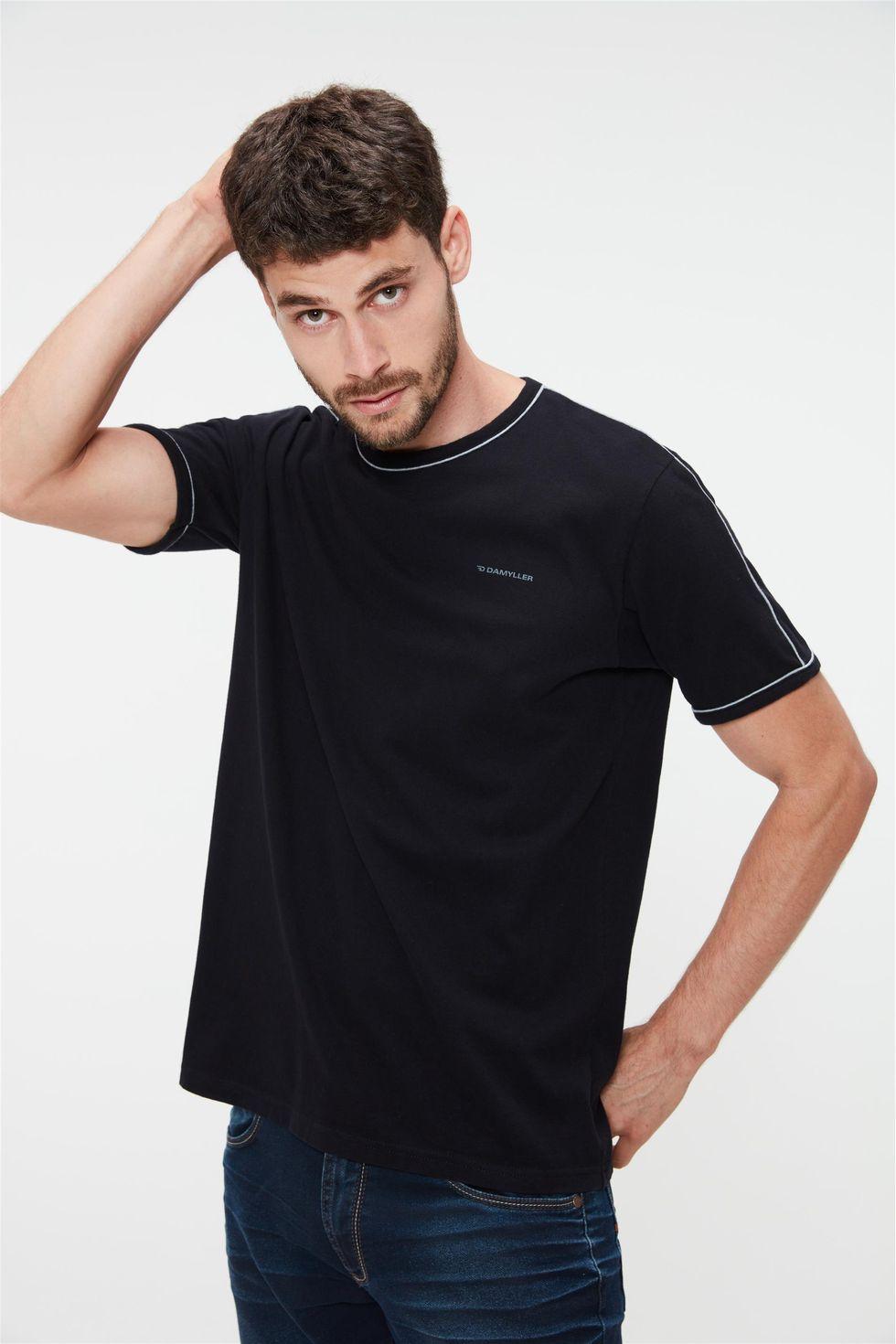 Camiseta-Lisa-com-Vies-Masculina-Frente--
