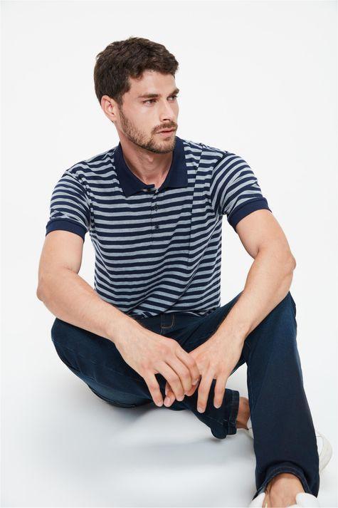 Camisa-Polo-Listrada-Masculina-Frente--
