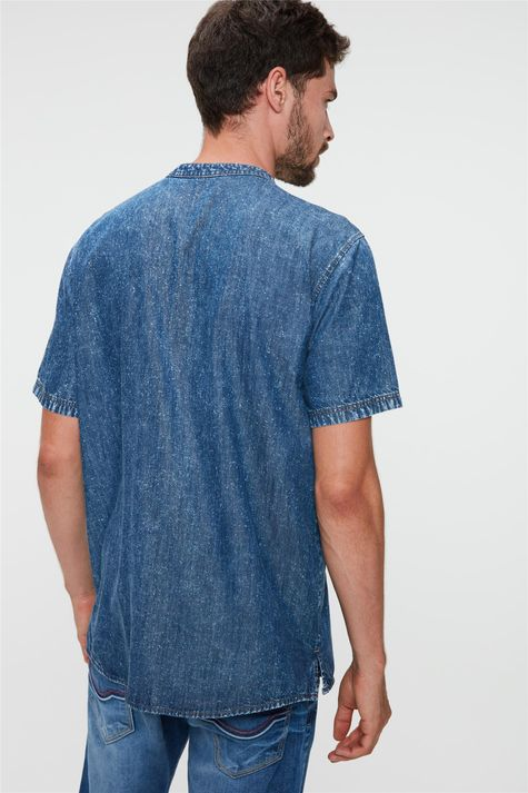 Bata-Jeans-de-Manga-Curta-Masculina-Costas--