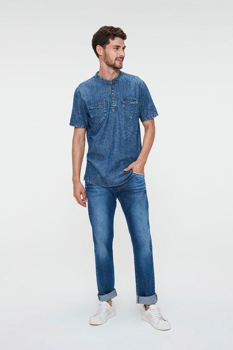 Bata-Jeans-de-Manga-Curta-Masculina-Detalhe-1--