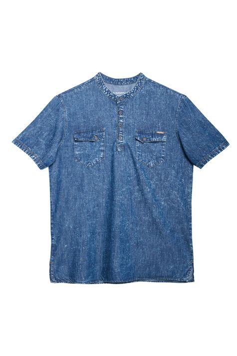 Bata-Jeans-de-Manga-Curta-Masculina-Detalhe-Still--