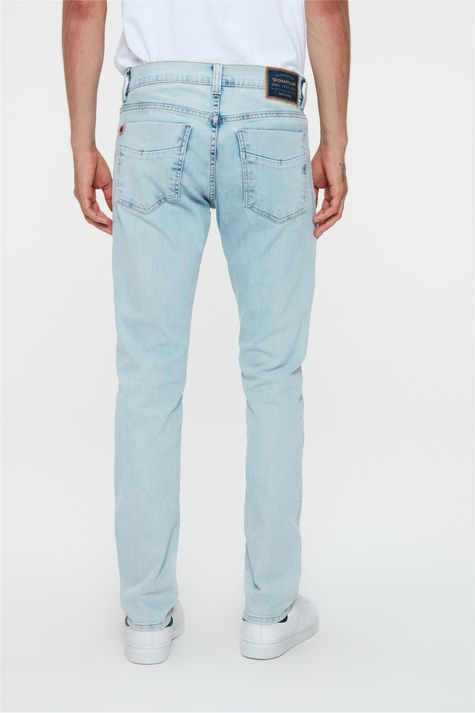Calca-Jeans-Azul-Claro-Skinny-Masculina-Costas--