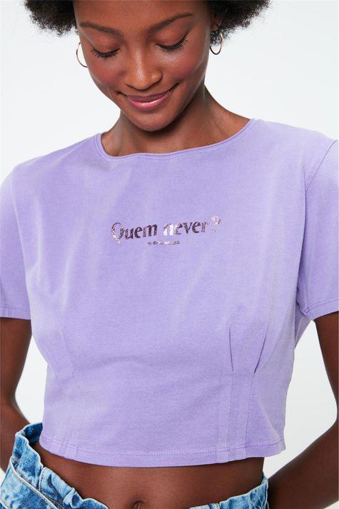 Camiseta-Cropped-com-Estampa-Quem-Never-Detalhe--