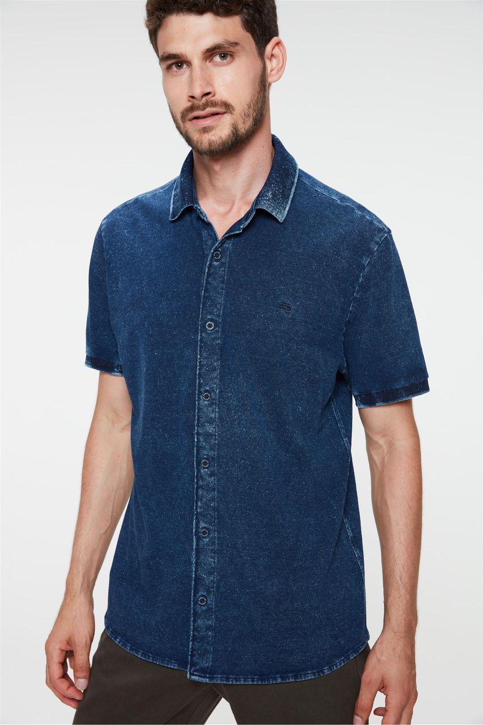 Camisa-de-Manga-Curta-em-Malha-Denim-Frente--