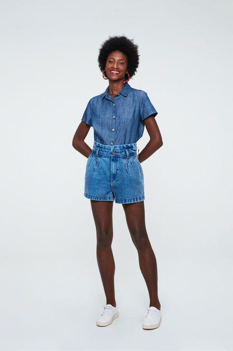 Camisa-Jeans-de-Manga-Curta-Feminina-Detalhe-1--