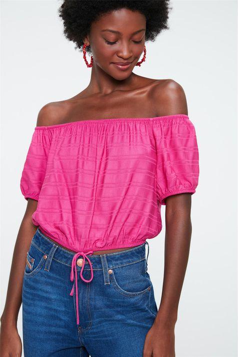 Blusa-Ciganinha-Cropped-com-Textura-Costas--