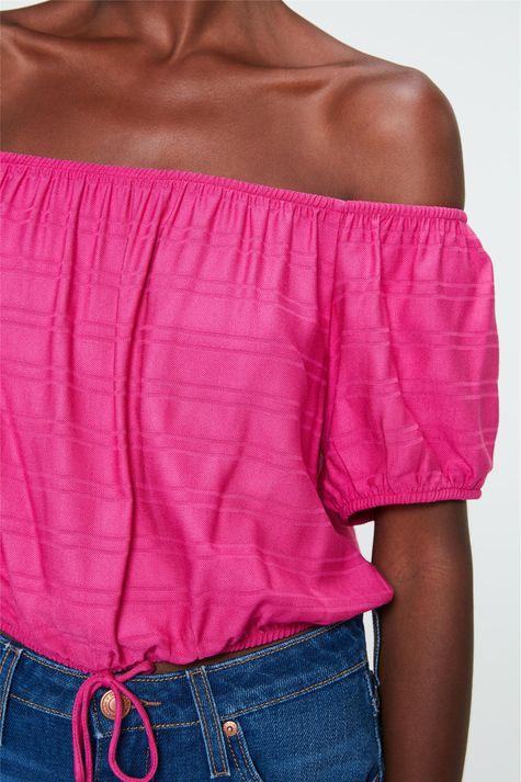 Blusa-Ciganinha-Cropped-com-Textura-Detalhe--