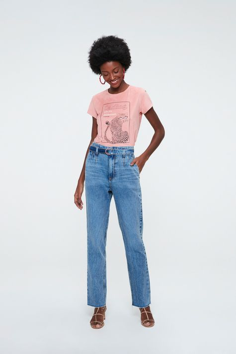 Camiseta-de-Suede-com-Estampa-de-Onca-Detalhe-2--