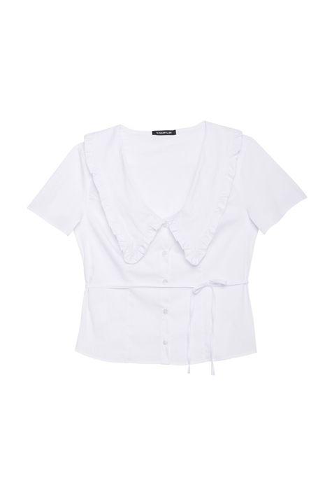 Camisa-de-Manga-Curta-com-Gola-de-Babado-Detalhe-Still--