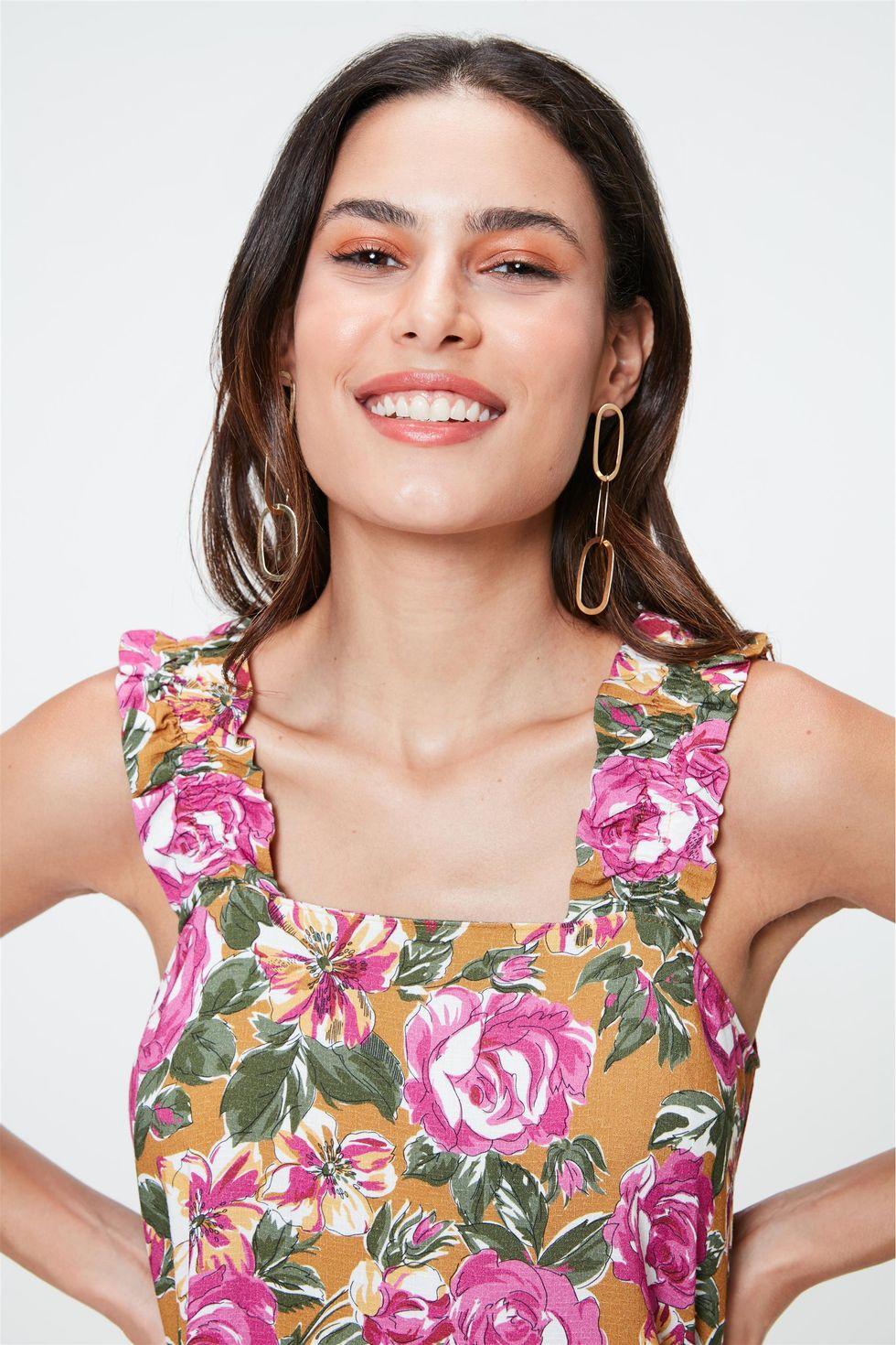 Blusa-sem-Mangas-com-Estampa-Floral-Rosa-Frente--