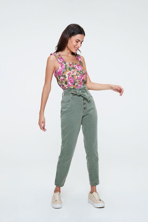 Blusa-sem-Mangas-com-Estampa-Floral-Rosa-Detalhe-2--