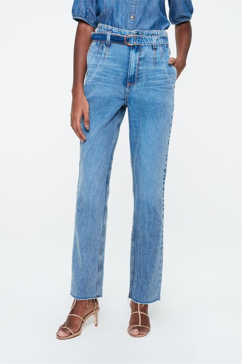 Calca-Jeans-Reta-Cintura-Alta-com-Cinto-Costas--