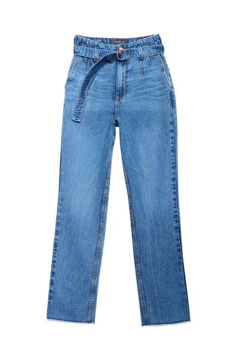 Calca-Jeans-Reta-Cintura-Alta-com-Cinto-Detalhe-Still--