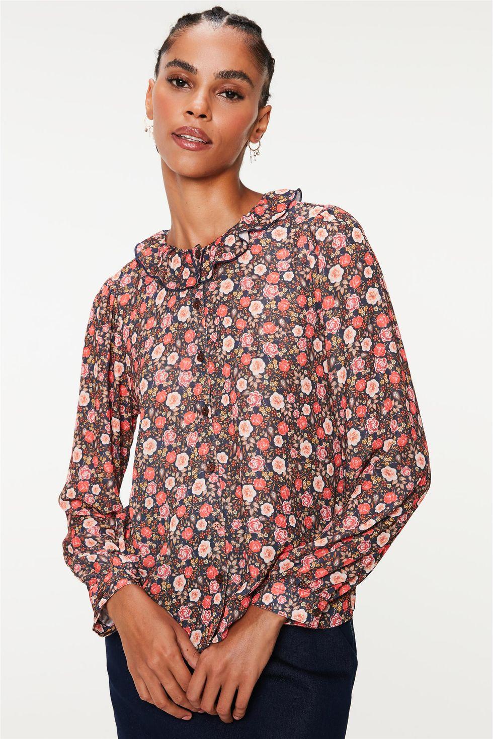 Camisa-Gola-de-Babado-e-Estampa-Floral-Frente--