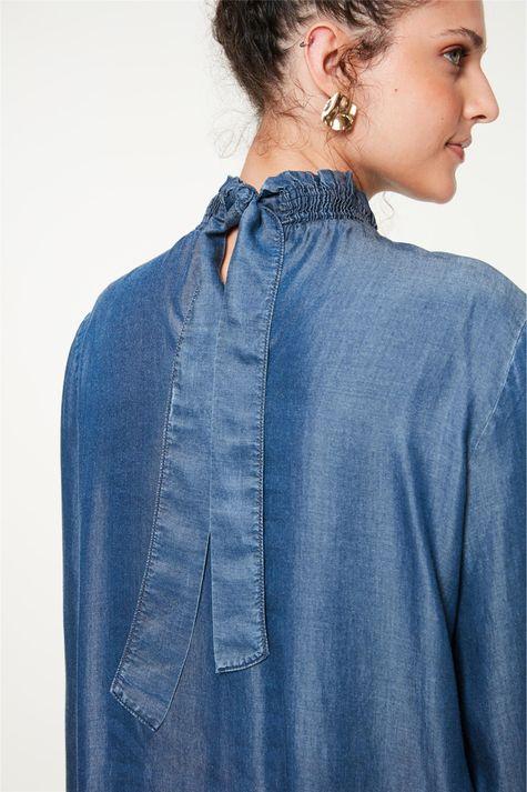 Blusa-Jeans-com-Mangas-e-Gola-Franzida-Detalhe-1--