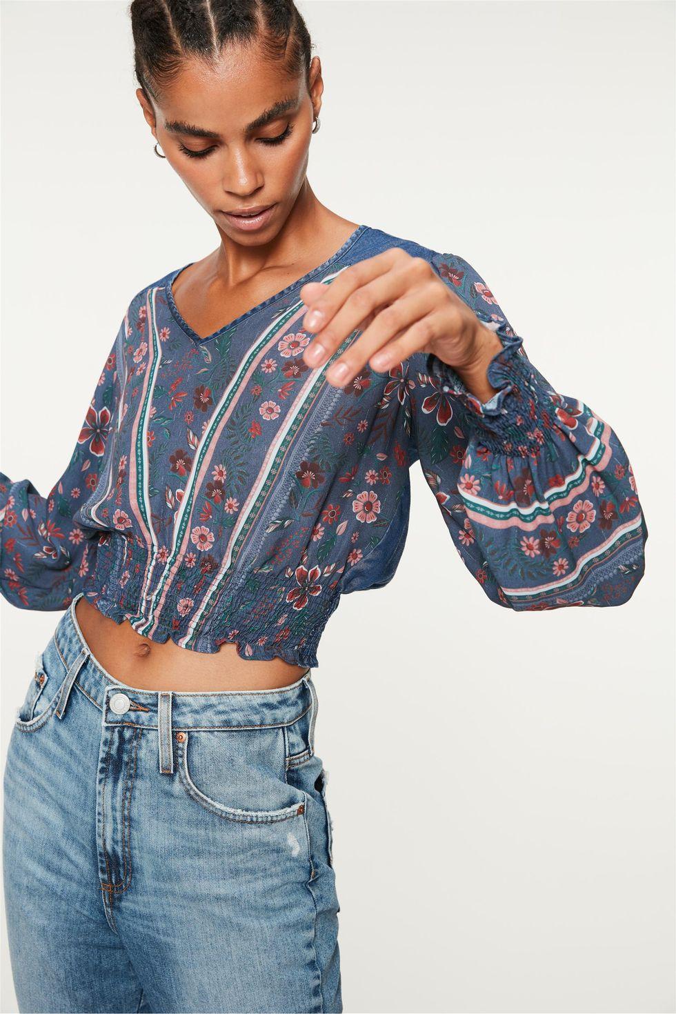 Blusa-Jeans-com-Franzidos-e-Estampa-Frente--