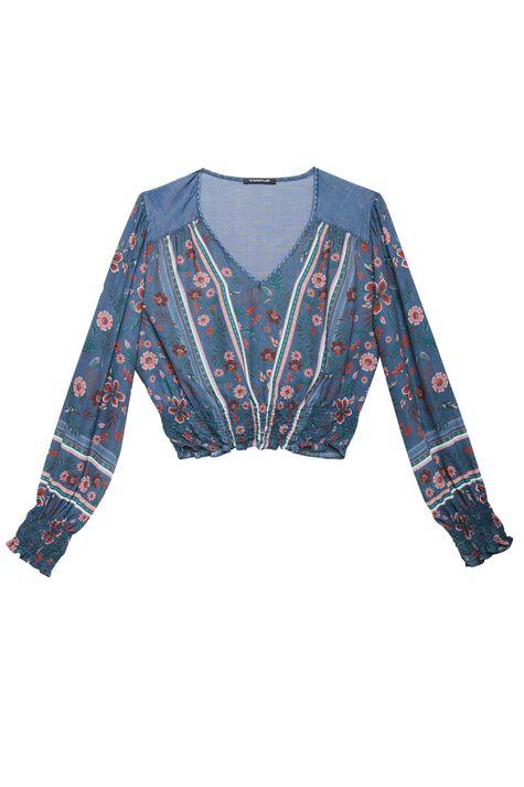 Blusa-Jeans-com-Franzidos-e-Estampa-Detalhe-Still--