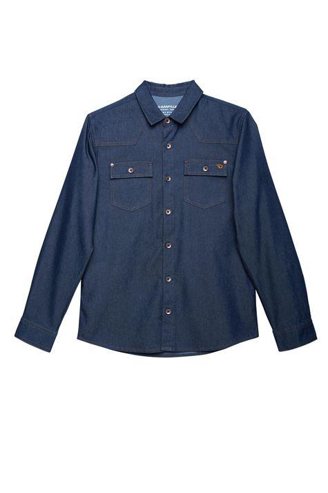 Camisa-Jeans-Azul-Escuro-Masculina-Detalhe-Still--