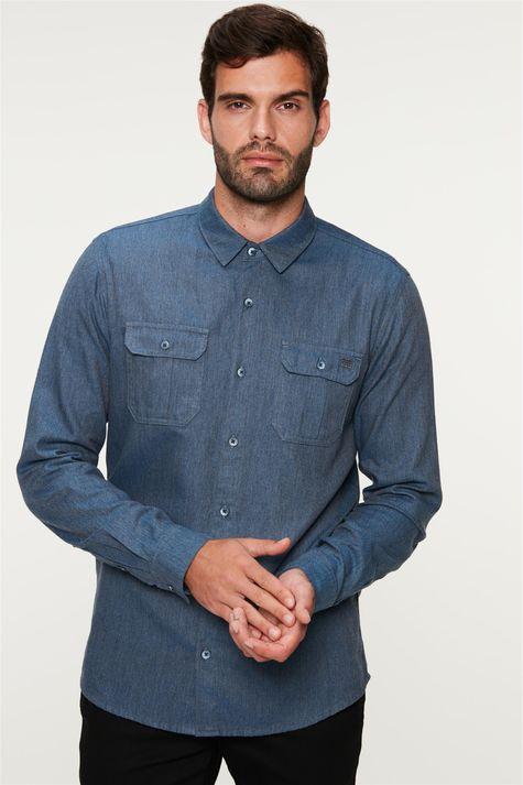 Camisa-Flanelada-com-Bolsos-Masculina-Frente--