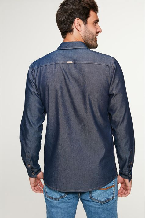 Camisa-Jeans-Azul-Escuro-Masculina-Costas--