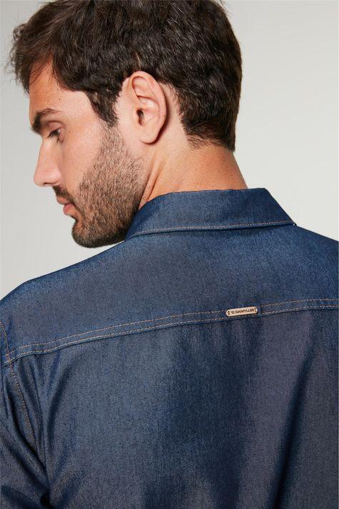 Camisa-Jeans-Azul-Escuro-Masculina-Detalhe-1--