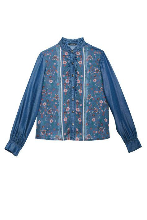 Camisa-Jeans-com-Estampa-Floral-Feminina-Detalhe-Still--