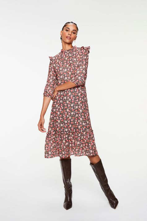Vestido-Midi-com-Estampa-Floral-Liberty-Frente--
