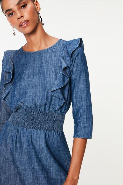 Vestido-Jeans-Midi-com-Babados-Detalhe-1--
