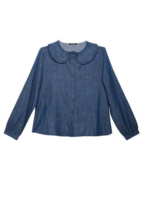 Camisa-Jeans-de-Manga-Bufante-com-Gola-Detalhe-Still--