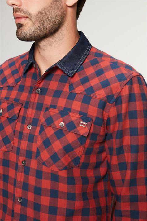 Camisa-Jeans-Dupla-Face-Xadrez-Masculina-Detalhe--