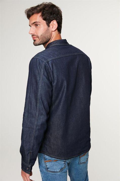 Camisa-Jeans-Dupla-Face-Xadrez-Masculina-Detalhe-3--