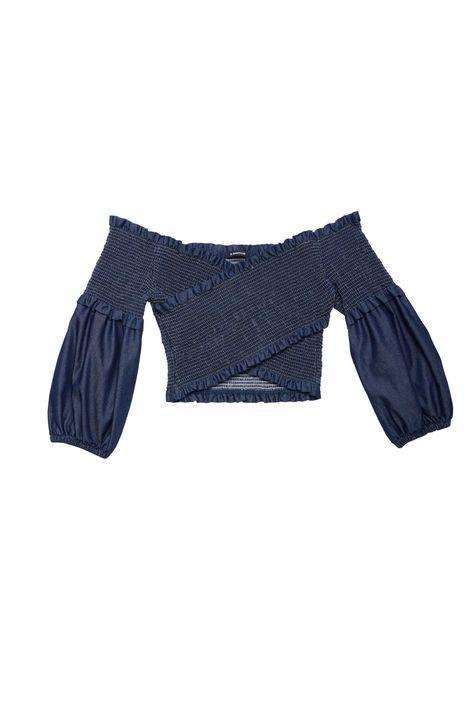 Blusa-Jeans-Transpassada-com-Lastex-Detalhe-Still--