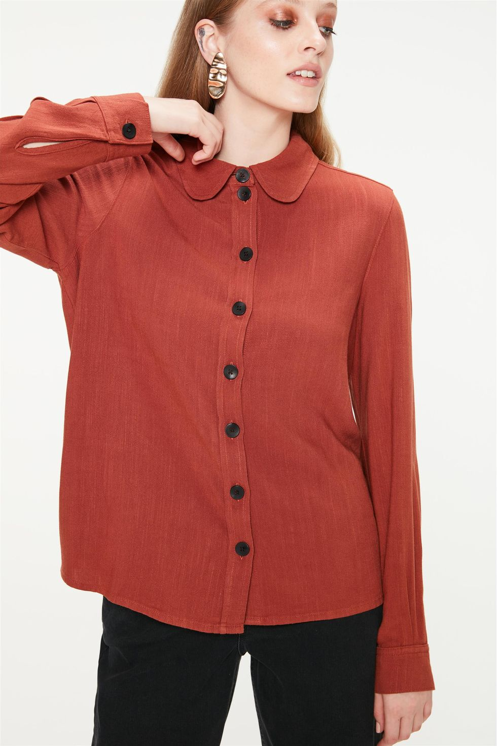 Camisa-Feminina-Terracota-Frente--