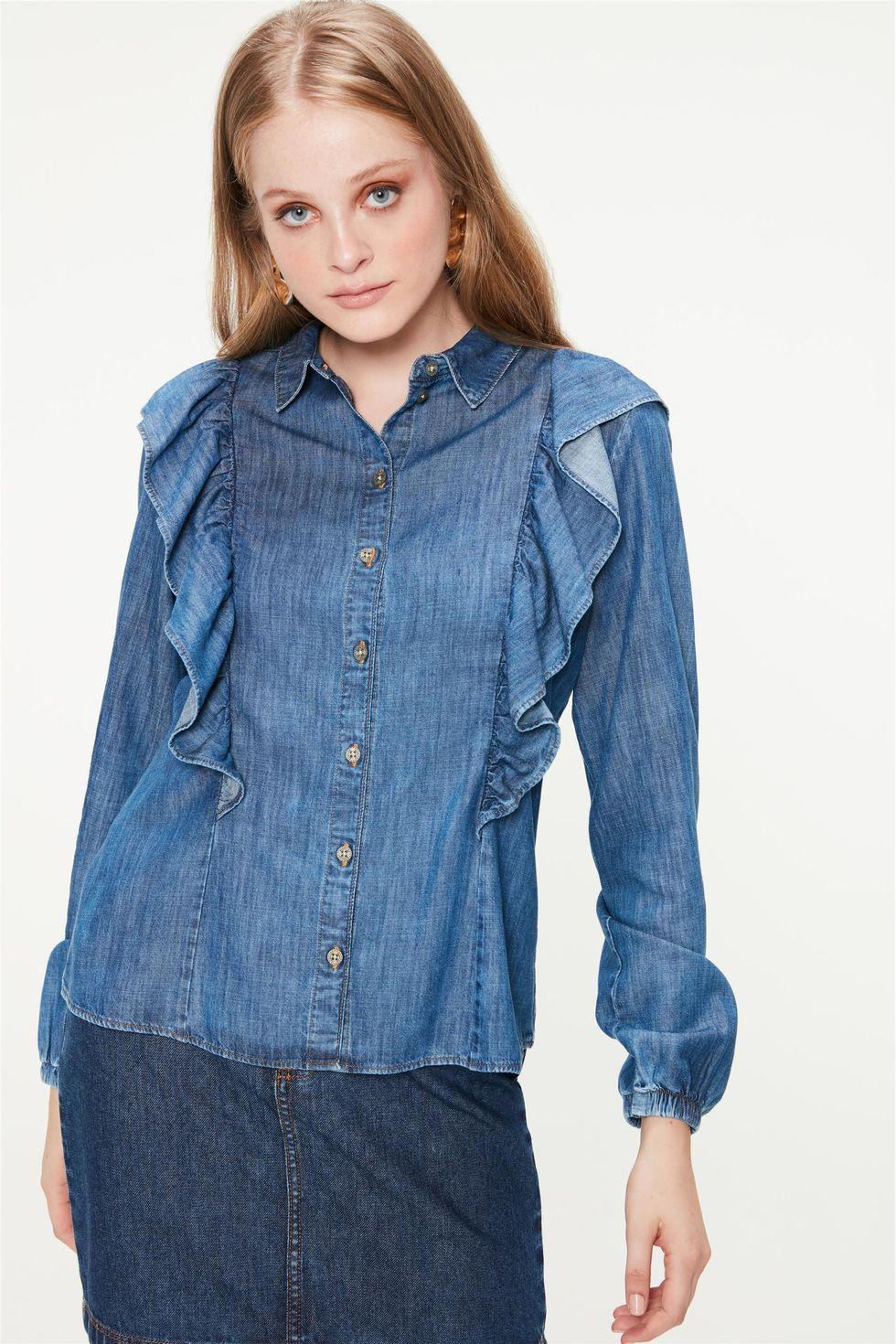 Camisa-Jeans-com-Babados-Feminina-Frente--