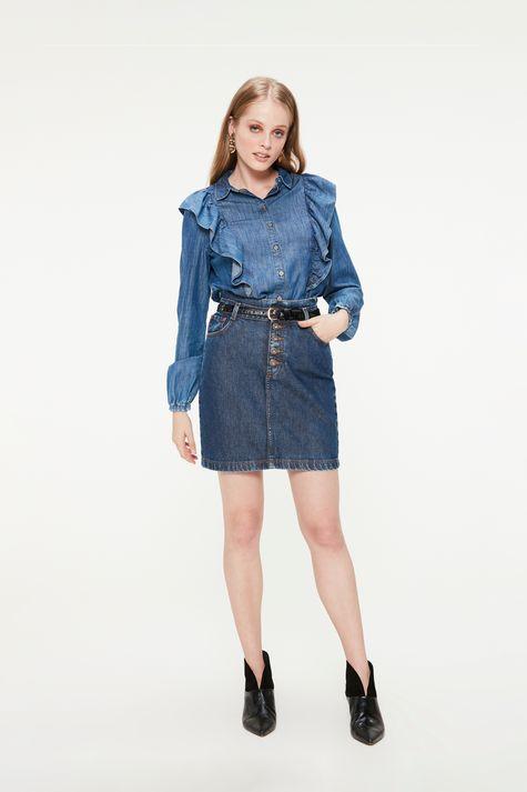 Camisa-Jeans-com-Babados-Feminina-Detalhe-1--