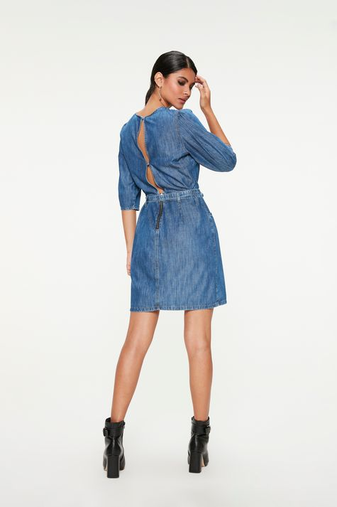 Vestido-Jeans-Medio-com-Manga-Bufante-Costas--