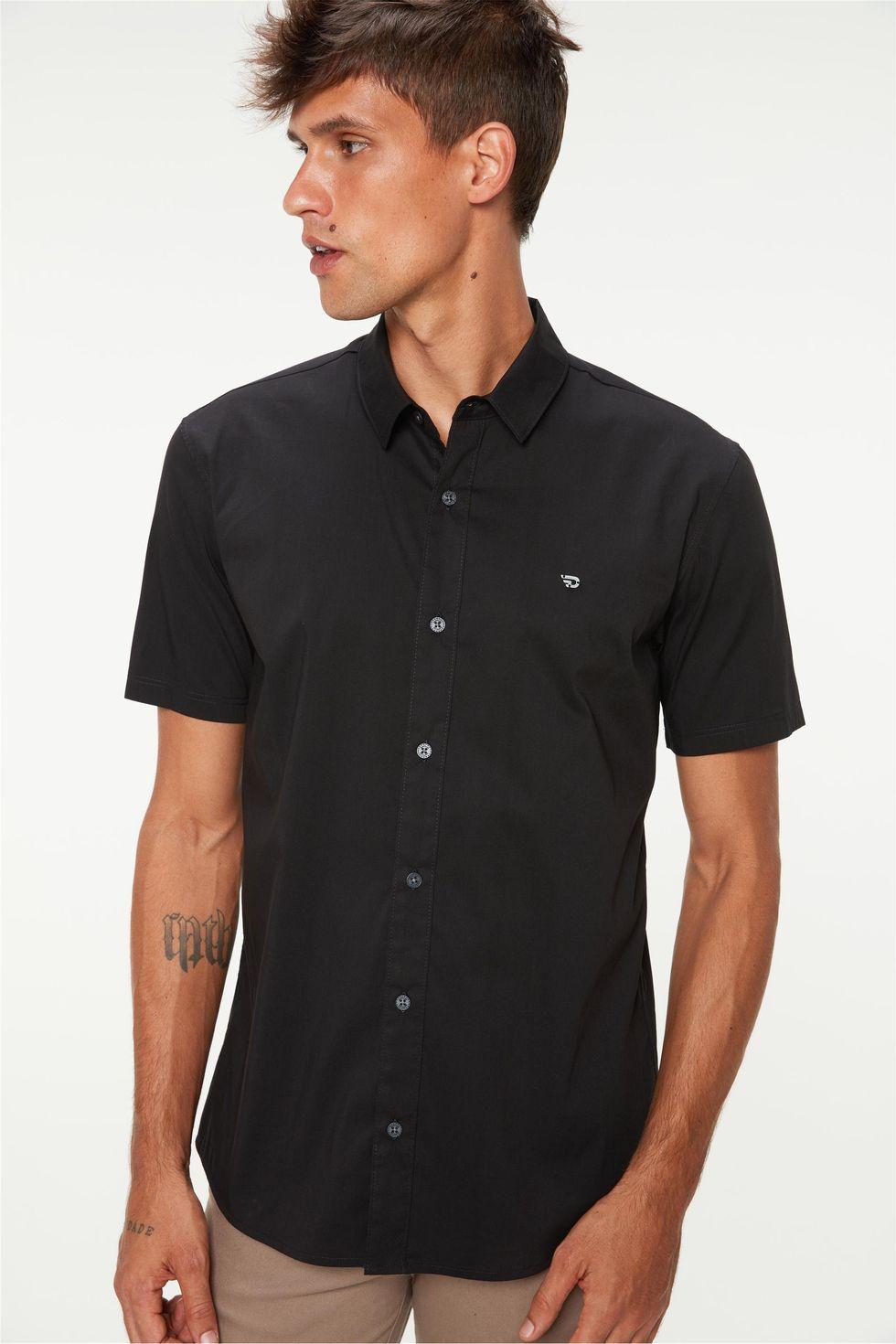 camisa-manga-curta-lisa-masculina-Frente--