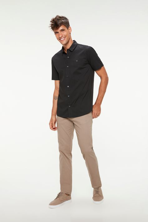 camisa-manga-curta-lisa-masculina-Detalhe-1--