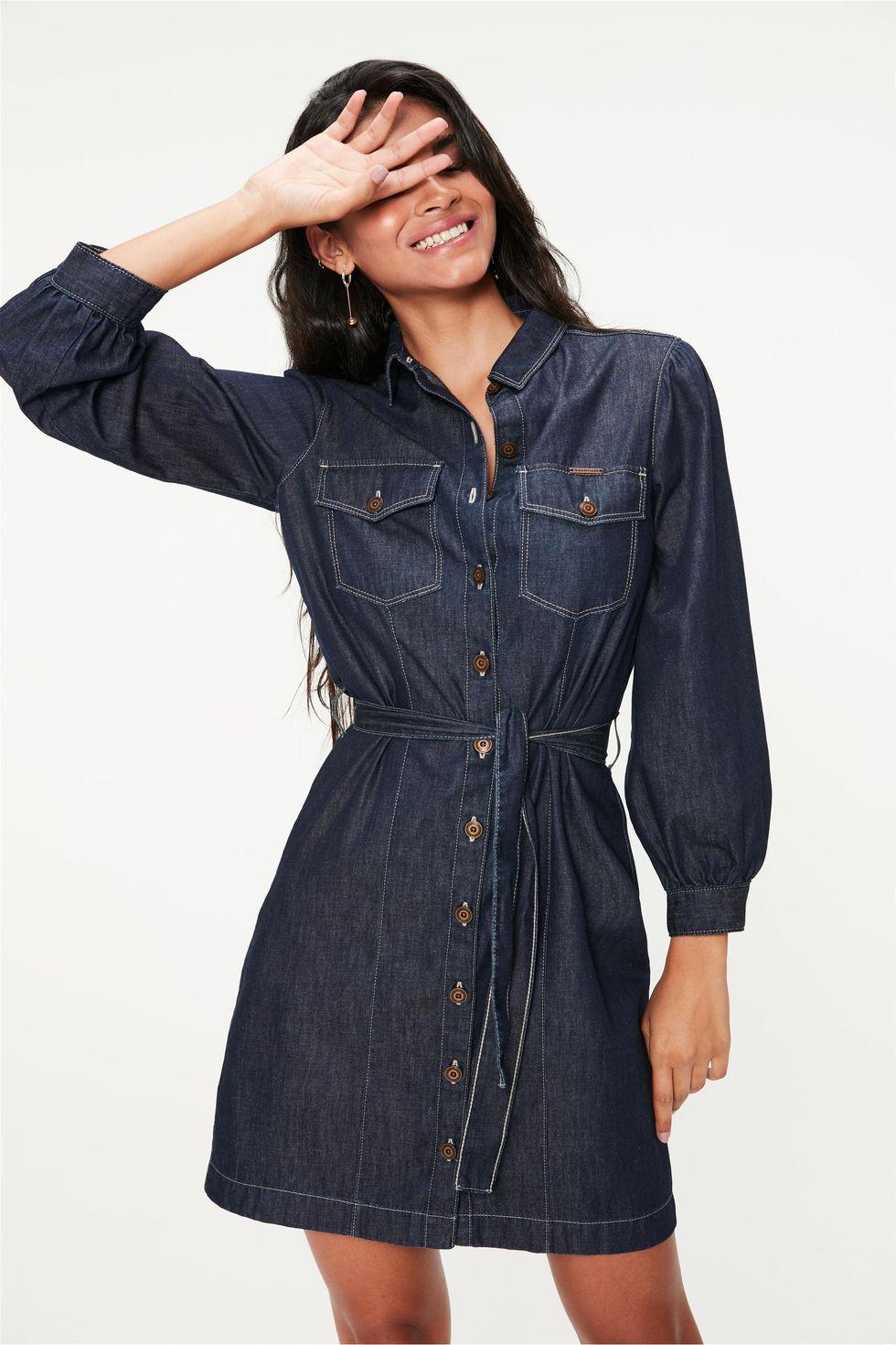 Vestido-Jeans-com-Mangas-Bufantes-Frente--