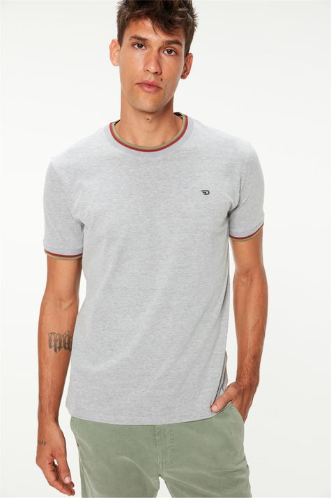 Camiseta-Lisa-College-Cinza-Masculina-Frente--