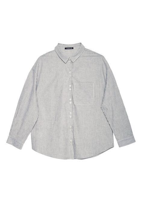Camisa-com-Estampa-de-Listras-Feminina-Detalhe-Still--