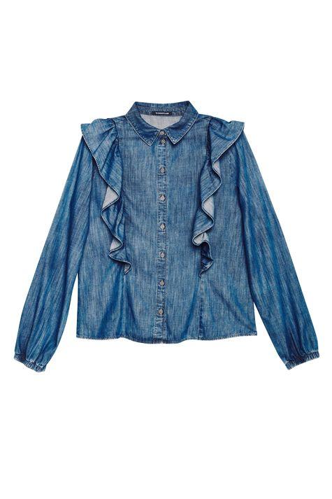 Camisa-Jeans-com-Babados-Feminina-Detalhe-Still--